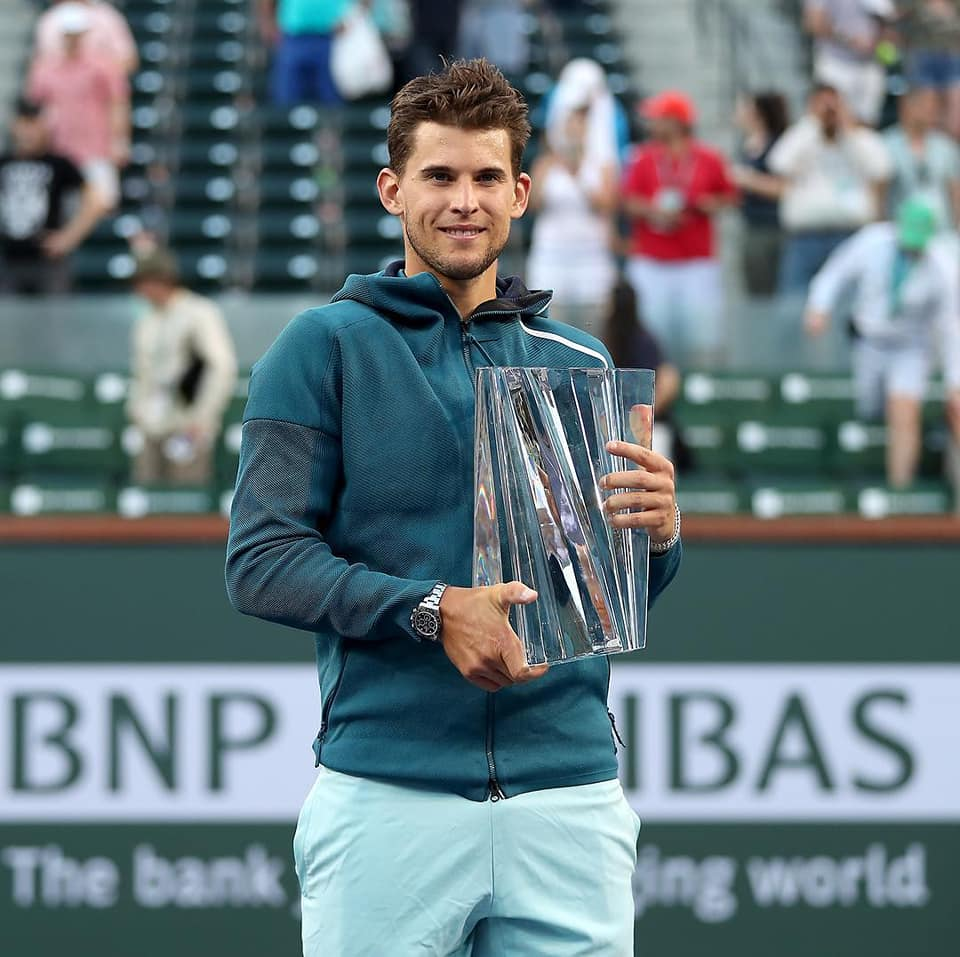 Dominic Thiem Defeats Federer in 3 sets to win Indian Wells title