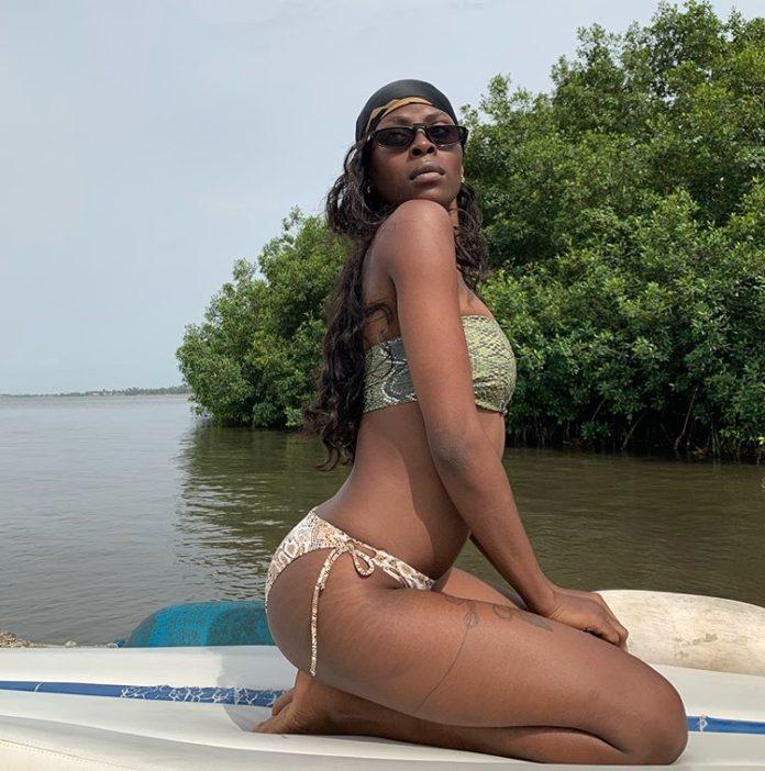 BBNaija's Khloe Shows Off Bikini Body With Her Stretch mark On Display