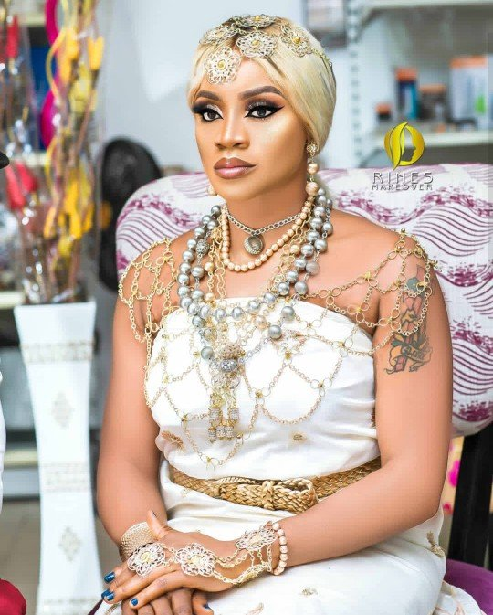 Uche Ogbodo Shares Itsekiri Themed Traditional Wedding Photos