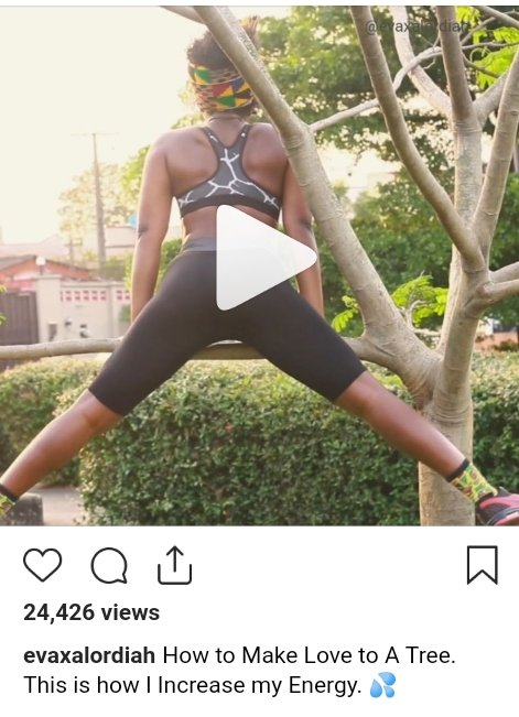 Female Rapper ,Eva Alordiah Teaches fans how to make love to a tree (video)