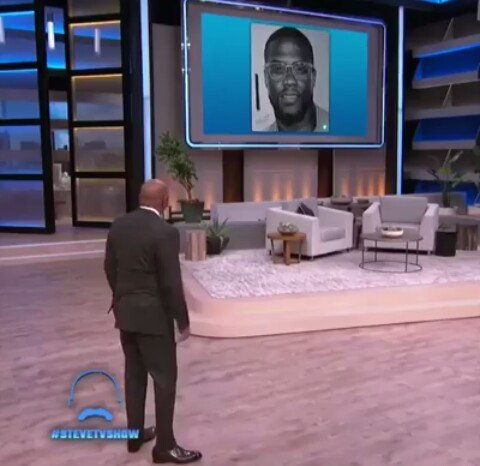 Nigerian Boy Who Drew Realistic Painting Of Kevin Hart, Finally Made It To Steve Harvey's Show