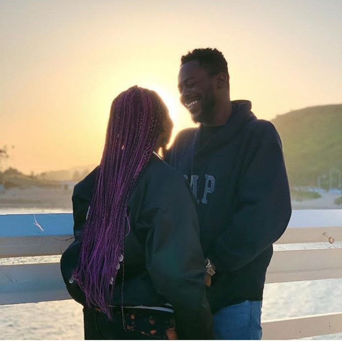 Adorable moments Adekunle Gold Pictured All Smiles With Simi his wife