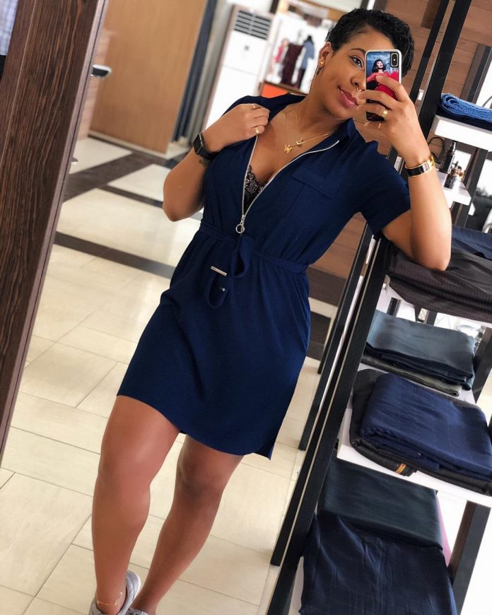 Tboss Stuns In Short Gown Amid Pregnancy Rumour
