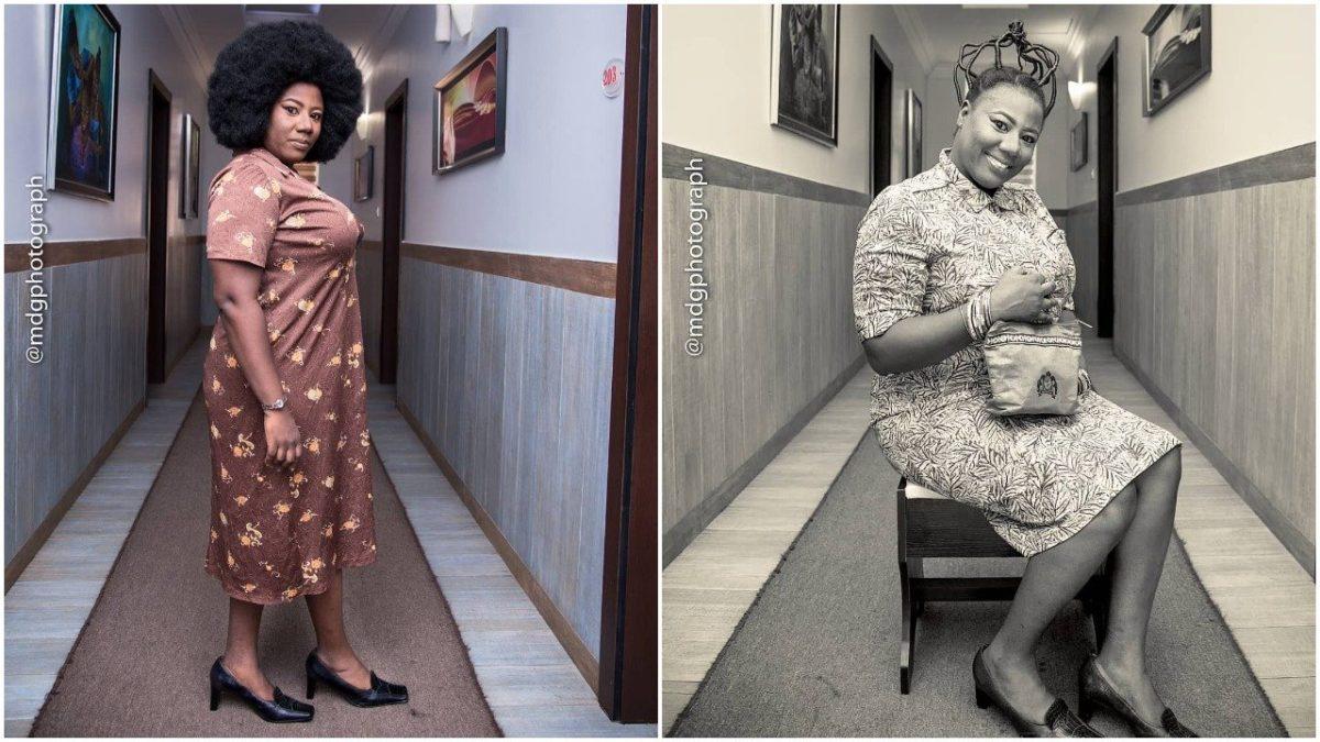 Nollywood Actress ,Adediwura Blarkgold Rock Olden Days Attire with Funny Captio