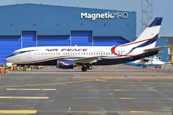Photos Of New Boeing 777-300 Aircraft 'Anuli Peggy Onyema' Acquired By Air Peace