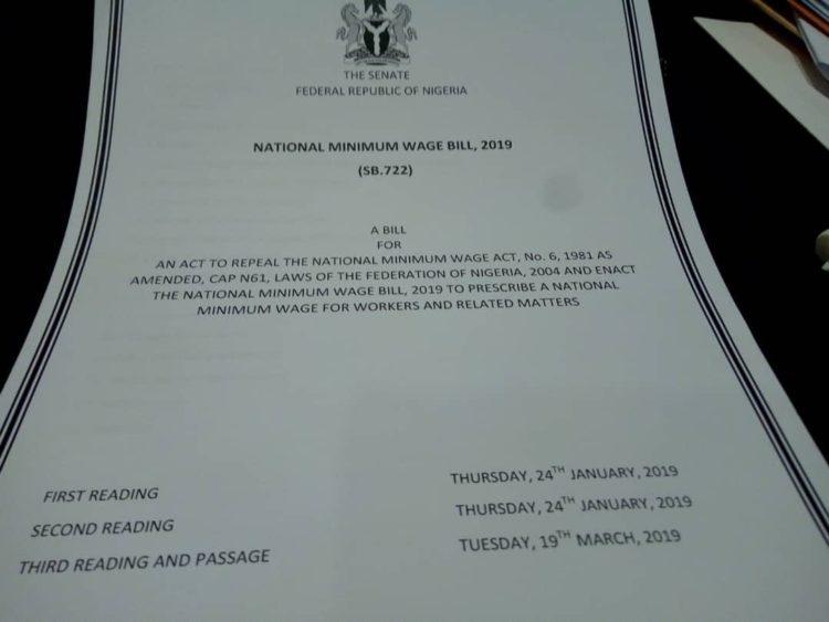 BREAKING: Saraki Signs National Minimum Wage Bill 2019