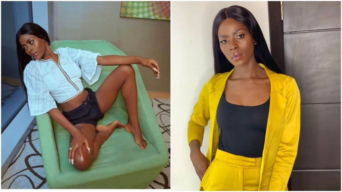Ex Bbnaija Khloe shows off her tiny laps in sexy new Photos