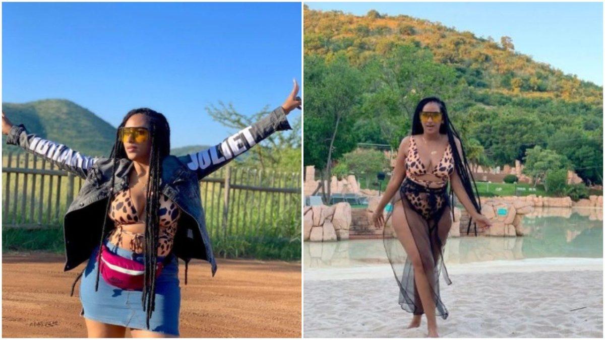 Ghanaian actress, Juliet Ibrahim Flaunts her Massive boobs In Leopard Print Bikini