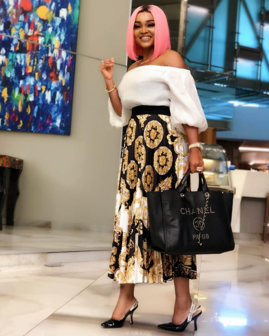 MERCIFIED and Fortified with Grace ! Mercy Aigbe rocks her Pink Hair and Chanel Bag