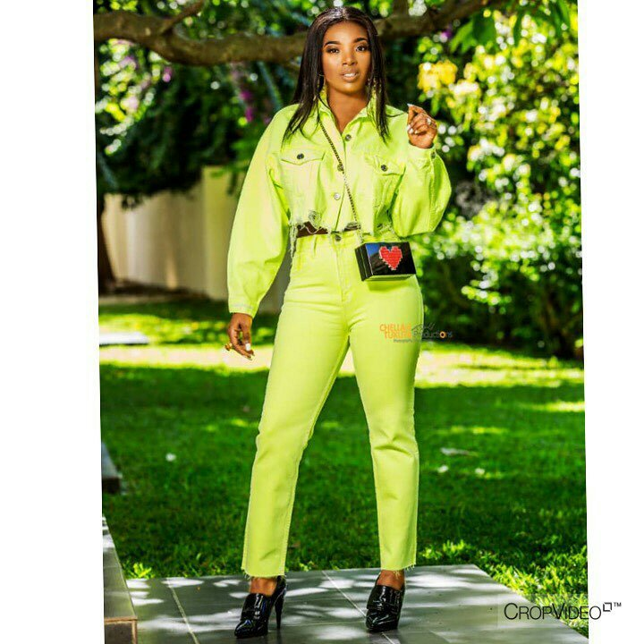 """"""" I Am Uniquely Gifted"""" - Annie Idibia Stuns In Green Outfit"""