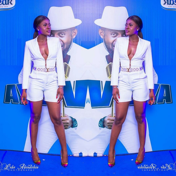 BBNaija Star, Alex Unusual Steps Out In White Boobs Revealing Jacket And Short To Host AY Show