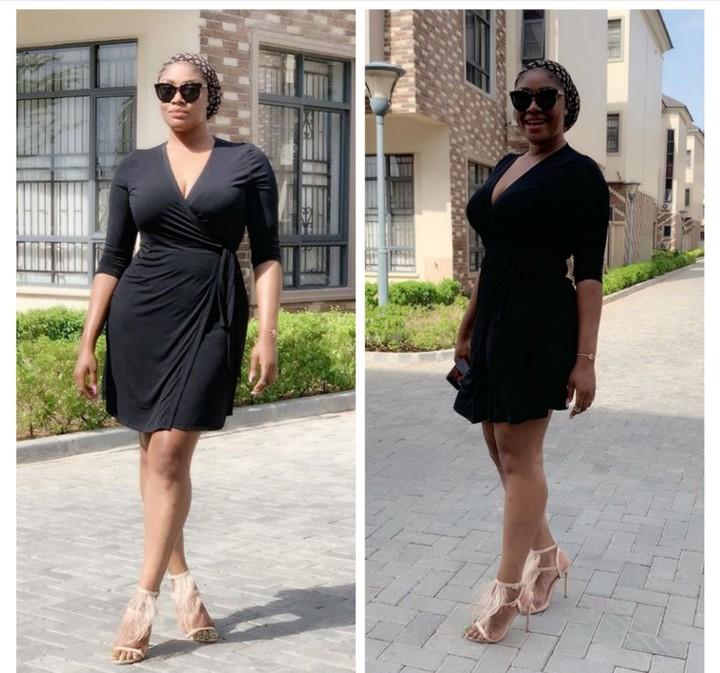 Angela Okorie Slams Troll Who Said She Has A Man's Leg