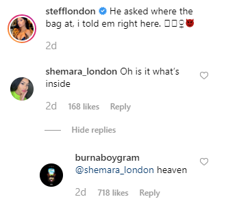 Burna Boy describes Stefflon Dons Veejay as heaven she says its all for him unclesuru 2