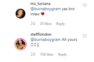 Burna Boy describes Stefflon Dons Veejay as heaven she says its all for him unclesuru 3