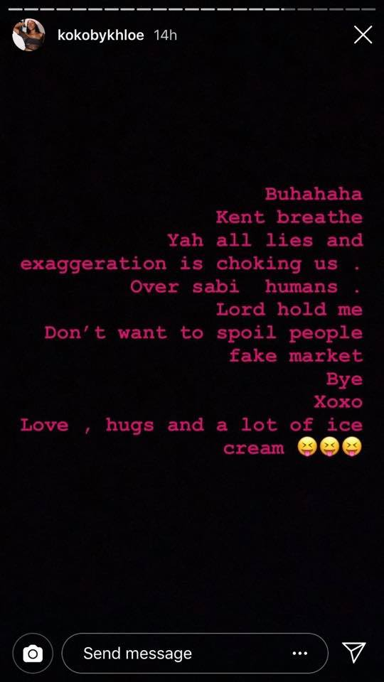 Celebrities are signing deals for peanuts and disturbing our peace Khloe unclesuru 2