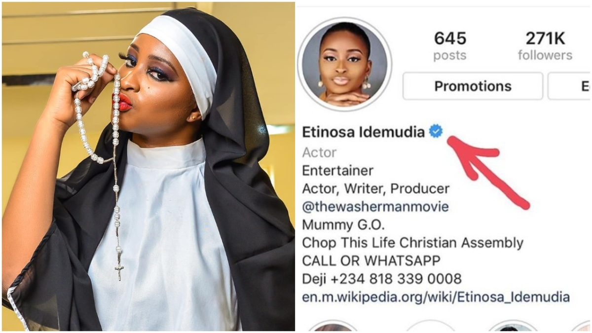 Etinosa Celebrates Being Verified On Instagram After Nude Video Saga