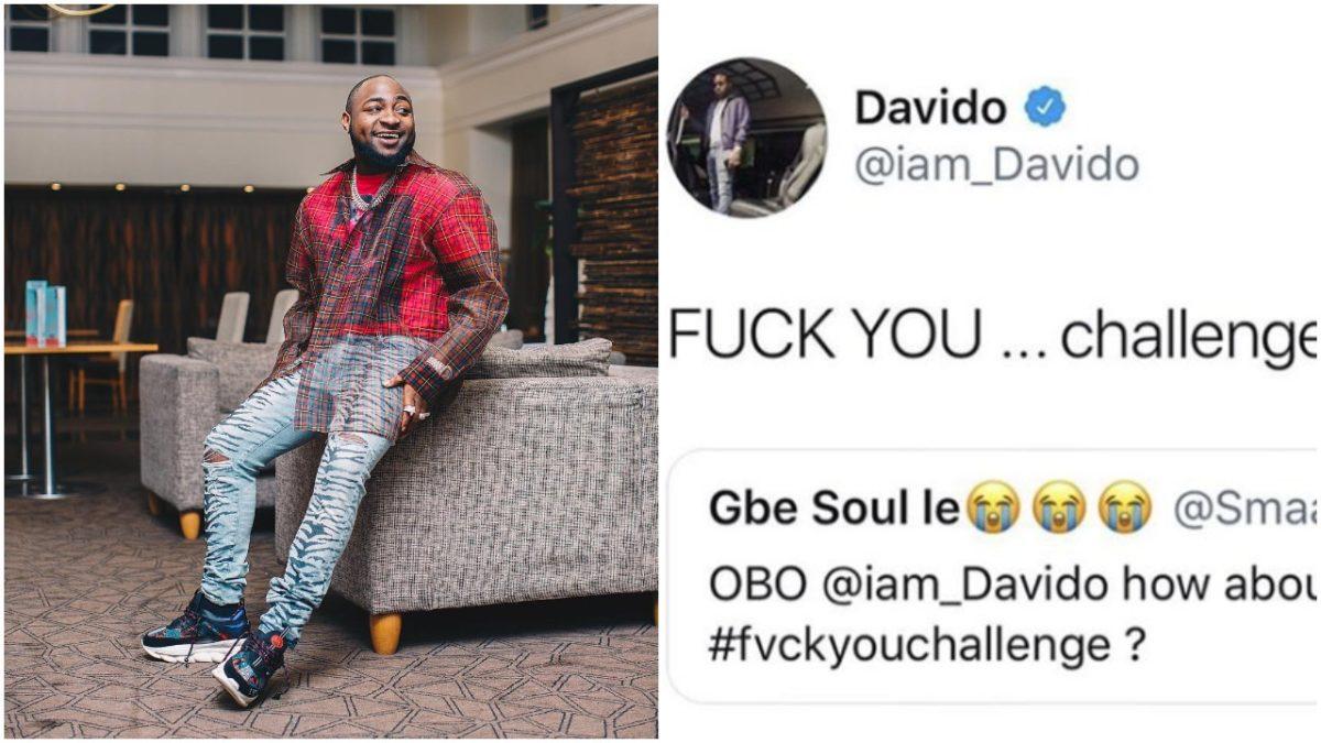Davido Joins Kizz Daniel's '#FvckYouChallenge , Wizkid and other Celebrities React