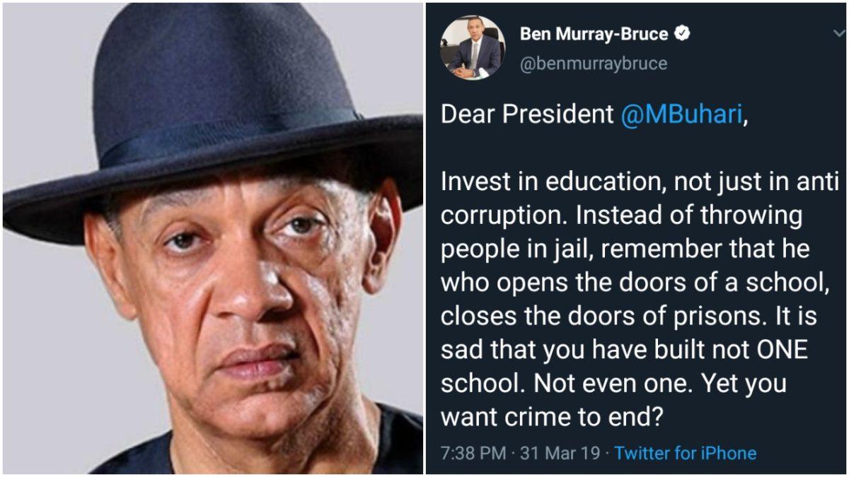 Invest In Education Not Just Anti-corruption - Senator Ben Bruce To Buhari