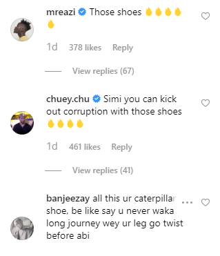 Simi dragged over her shoe followers say its heavier than the cross Jesus carried unclesuru 2