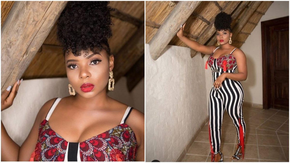 Yemi Alade Flaunts Massive Cleavage As She Performed In Zambia
