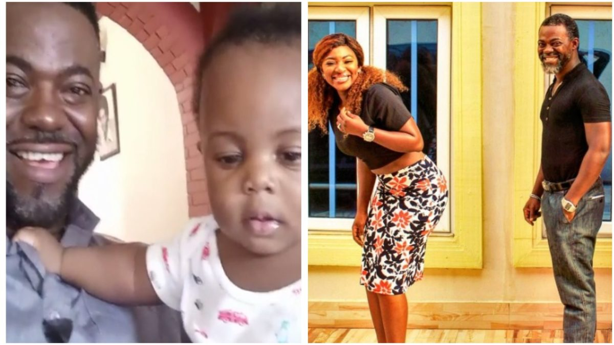 Yvonne Jegede's estranged husband, Abounce Fawole finally meets his Son