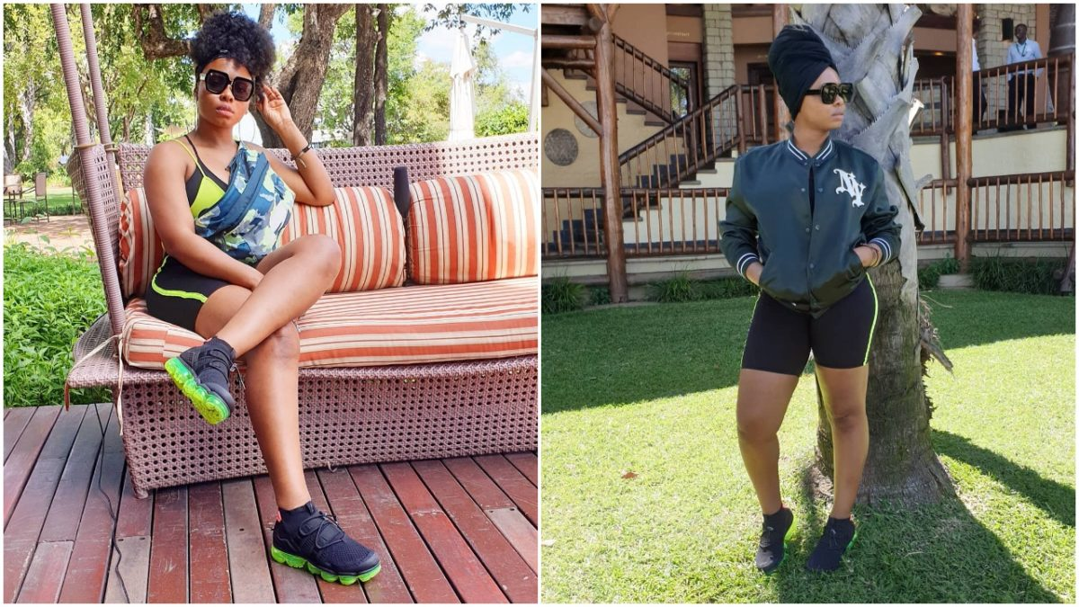 Slay Mama! Yemi Alade flaunts her huge thighs as she relaxes in Livingstone Zambia