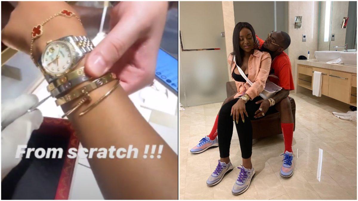 THE ROYALS!!!, As Davido buys Chioma 2 million Naira Worth Bracelet in Dubai