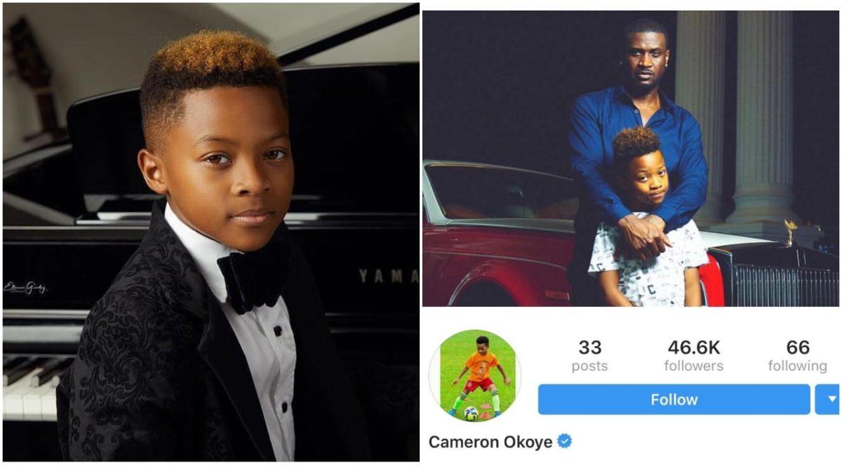 Nigerian singer, Peter Okoye's Son Cameron Okoye Gets VERIFIED On Instagram