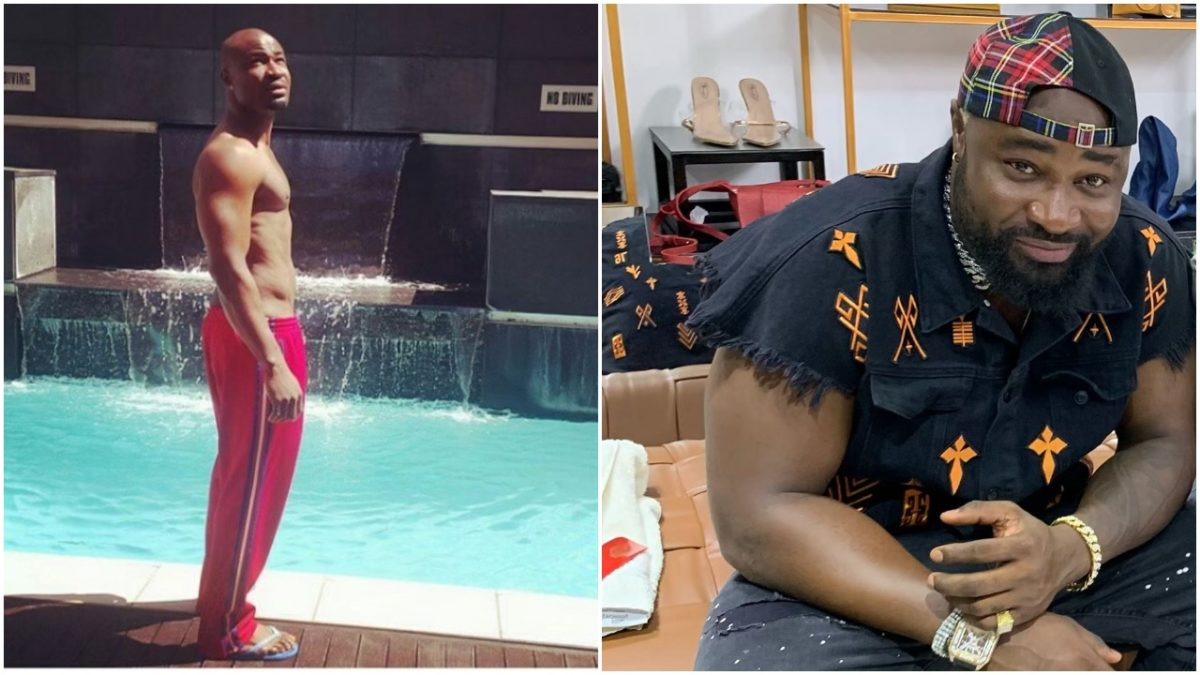 Harrysong goes shirtless show off his Six packs, Female fans reacts