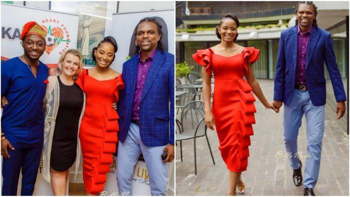 Kanu Nwankwo surprises his wife, Amara on Women's Day in an Adorable Fashion