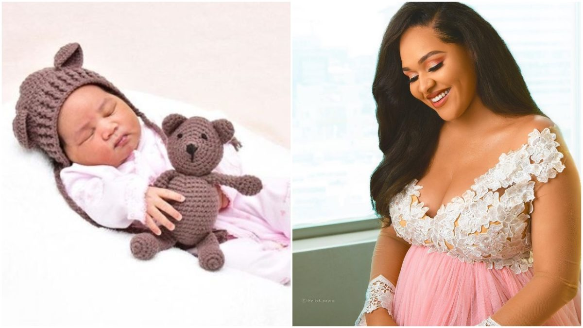 Tania Omotayo Shares First Photo Of Her Daughter since giving birth