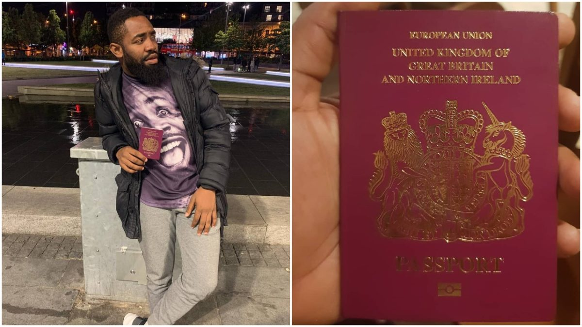 Nigerian Instagram Comedian Arole Excited As He Becomes British Citizens