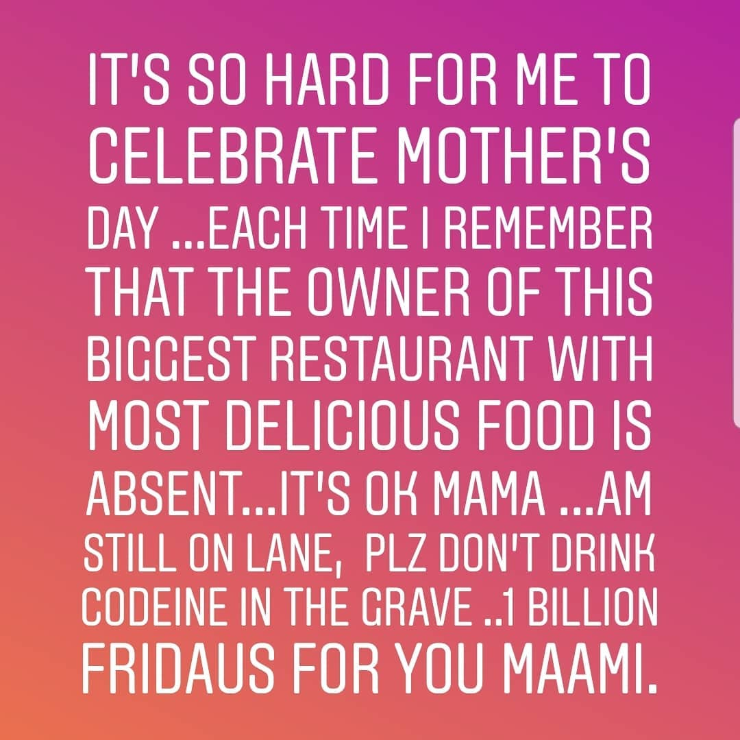 Its So hard for me to Celebrate Mother's day - Lizzy Anjorin
