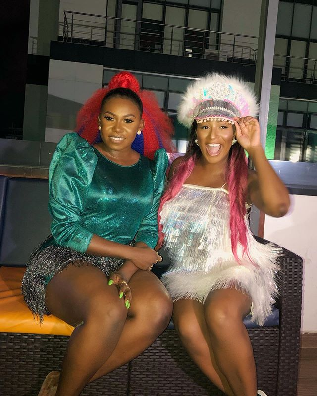 """""""Niniola Must Do A Song With Me By Force"""" - DJ Cuppy shares lovely photo with Niniola"""