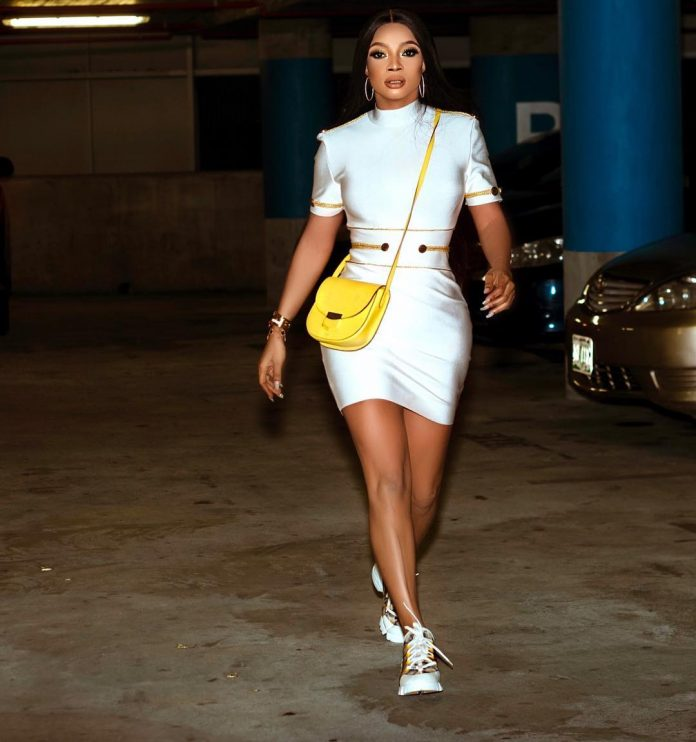 Toke Makinwa Steps Out In White short Dress , says