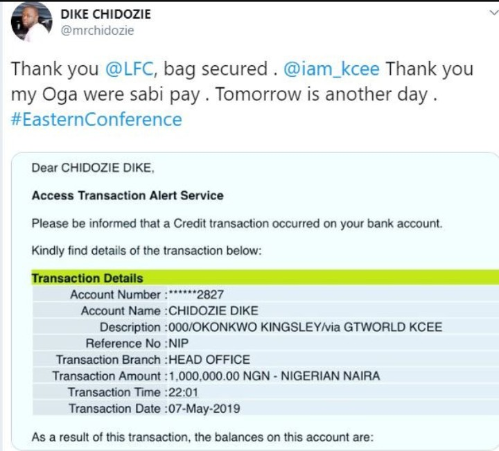 Singer Kcee Loses 1 million Naira Bet Following Barcelona's Defeat To Liverpool in the Champions League