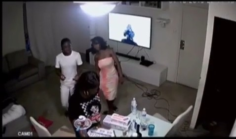 Graphic Moment Shatta Wale's Friend Junior Was Shot Dead In His Home Captured On CCTV