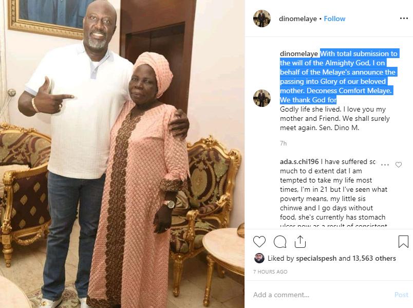 BLACK FRIDAY- Senator Dino Melaye loses his mother