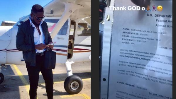 Miracle passes US Aviation exam unclesuru