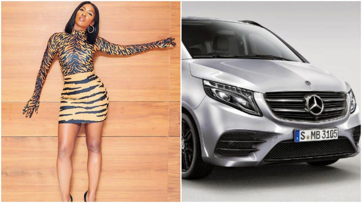 Tiwa Savage Cruises in Her ₦60m Customized Mercedes Benz V-class