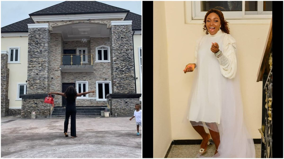Relationship blogger, Okoro Blessing builds house 8 years after ex-husband threw her out of his house