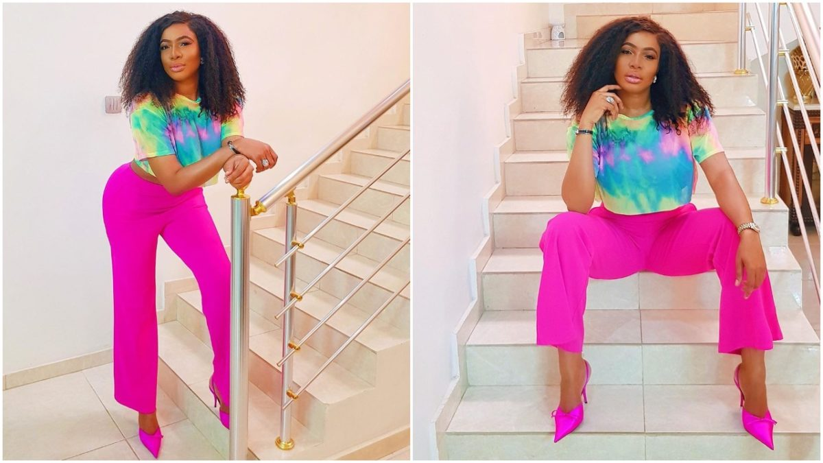 Actress Chika Ike breaks the internet in sexy pants and bra