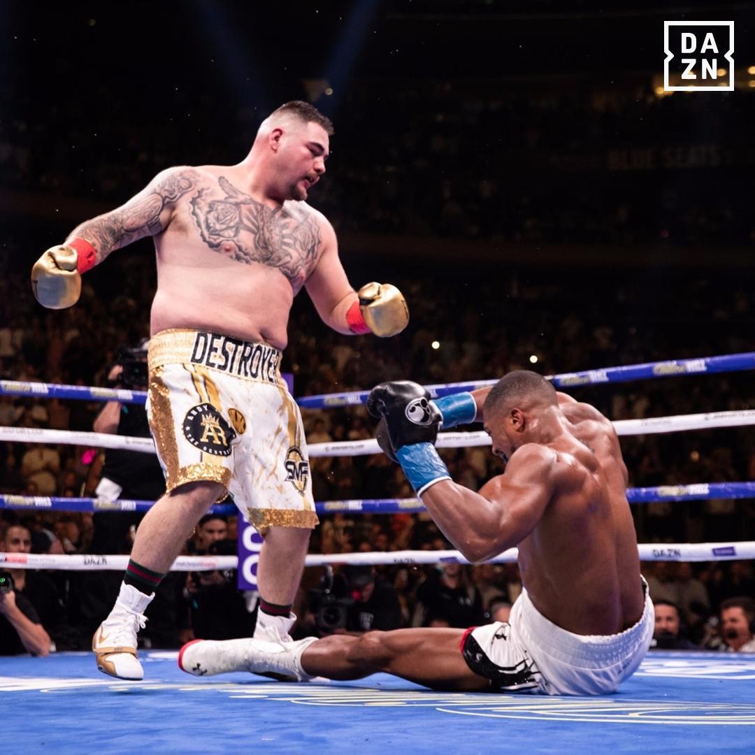 Boxing Underdog Andy Ruiz knocks out Anthony Joshua, takes three world titles