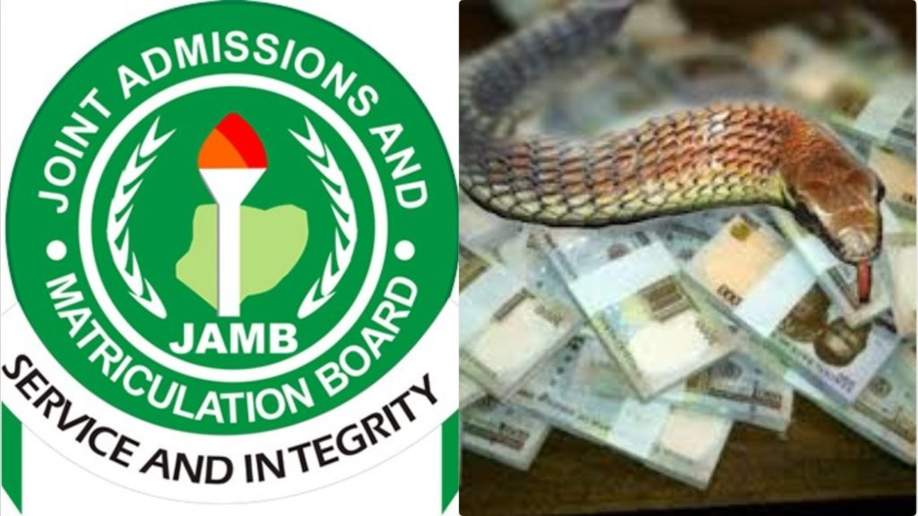 Money swallowing Snake Drama As JAMB Uncovers Another Missing N26m