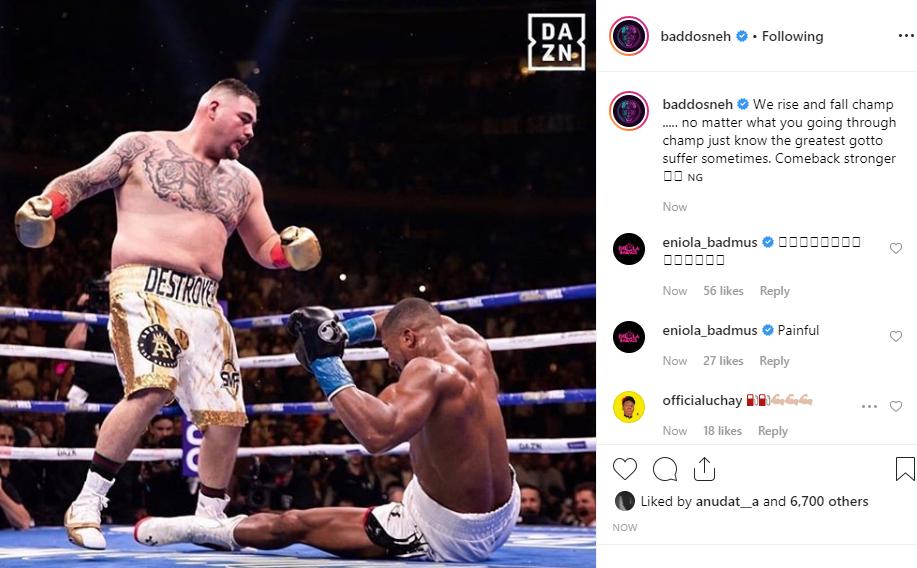 Nigerian celebrities react to Anthony Joshuas defeat to Andy Ruiz unclesuru 2