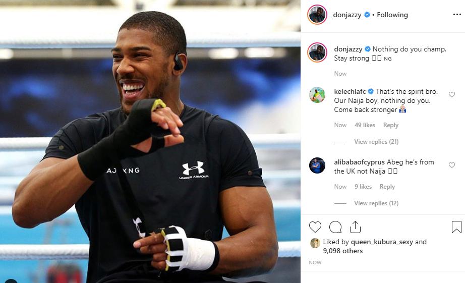 Nigerian celebrities react to Anthony Joshuas defeat to Andy Ruiz unclesuru 3