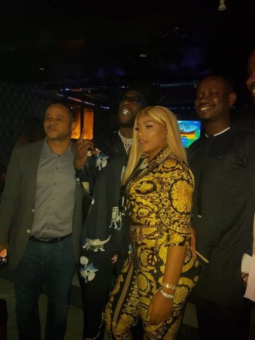 Stefflon don and Burna boy all loved up at his birthday party