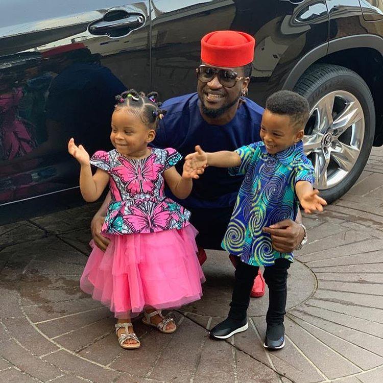 Paul okoye and hisTwin babies