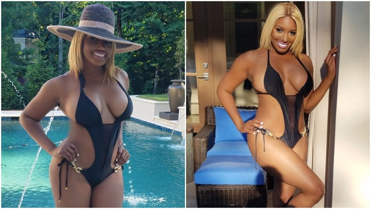 Real Housewives of Atlanta,NeNe Leakes shows off her Banging body in a black bathing suit