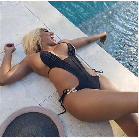Screenshot 2019 07 07 Reality star NeNe Leakes shows off her banging body in tiny black bathing suit Photos3